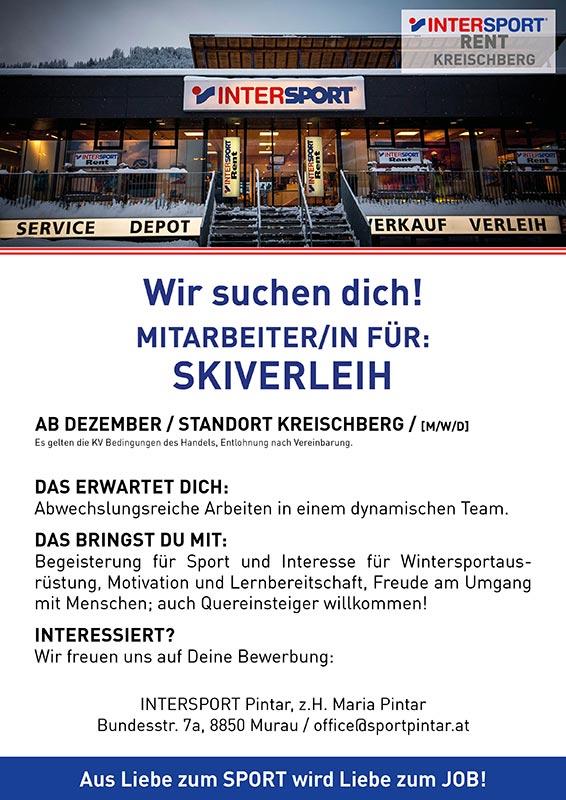 Ausschreibung Skiverleih Kreischberg